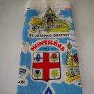 Vintage Montreal Quebec Souvenir Linen Tea Towel - Olympic Stadium