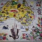 Vintage Heil Linen Tablecloth Souvenir Australia