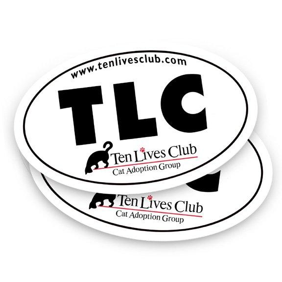 Ten Lives Club TLC Bumper Sticker