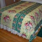 Vintage Floral Bedspread - Full