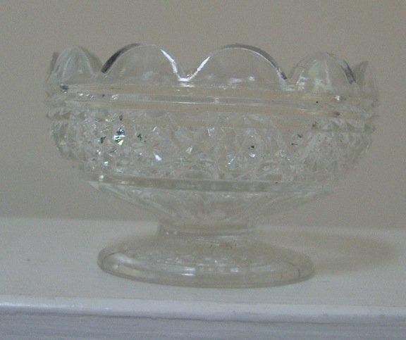 Vintage EAPG Higbee Glass HAWAIIAN LEI / GALA Dessert Dish - Set of 4