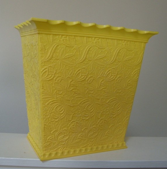 Vintage Max Klein Yellow Plastic Waste Can