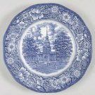 Staffordshire Ironstone Liberty Blue Dinner Plate Independence Hall Set of 2