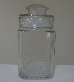 Vintage Koeze's Apothecary Jar Decanter Canister with Lid