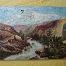 Vintage 1930s The Muddle Jig Puzzle Fine Art Series H Mountain of the Holy Cross - 300 Pcs Missing 2