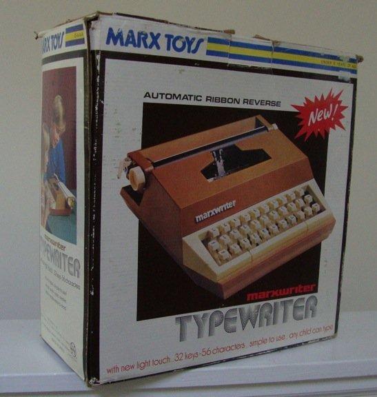 Vintage 1976 Louis Marx Marxwriter Typewriter in Orig Box