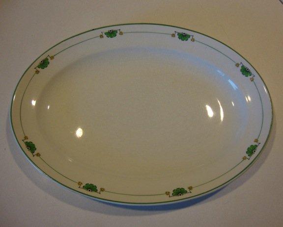 """Vintage Grindley England 794 Large Oval Platter 15 7/8"""" (chip)"""