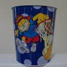 "Vintage 1999 Garfield ""Court Cat"" & Odie Basketball Metal Wastebasket"
