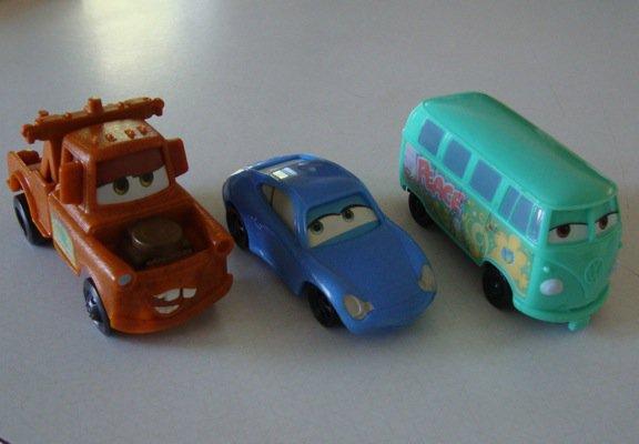McDonalds 2006 Disney Pixar Cars Set  0f 3