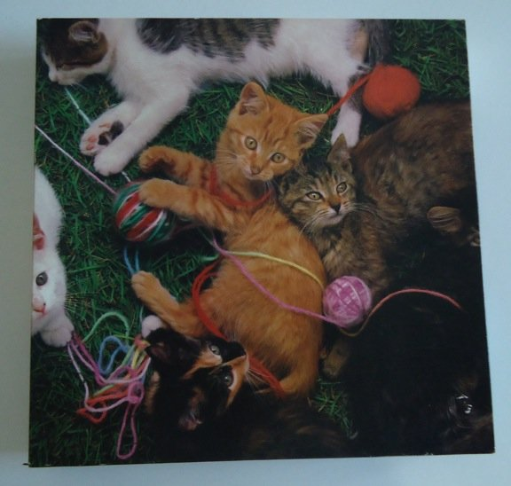 Vintage 1983 Hoyle Products Kittens 500 Pc Puzzle