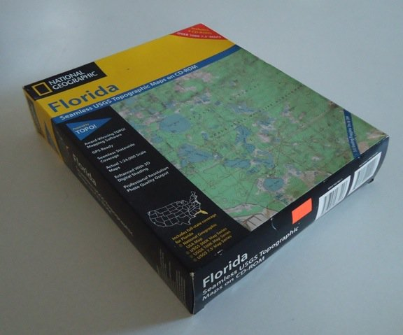 National Geographic 2002 Florida Seamless USGS Topographic Maps CD-Rom