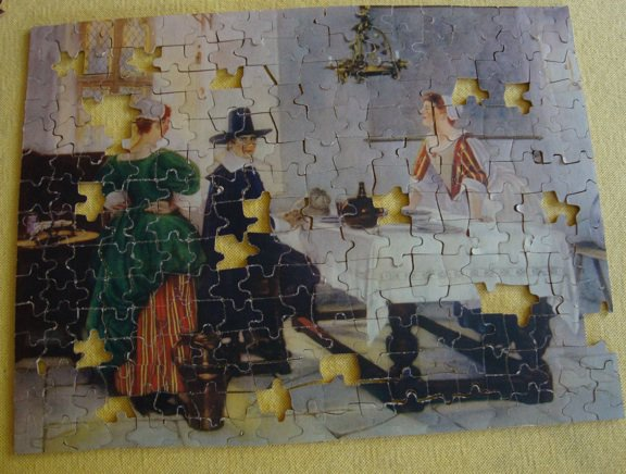 "Vintage 1932 Jig of the Week No. 16 ""Between Two Fires"" - 300 Pieces Missing Pieces"