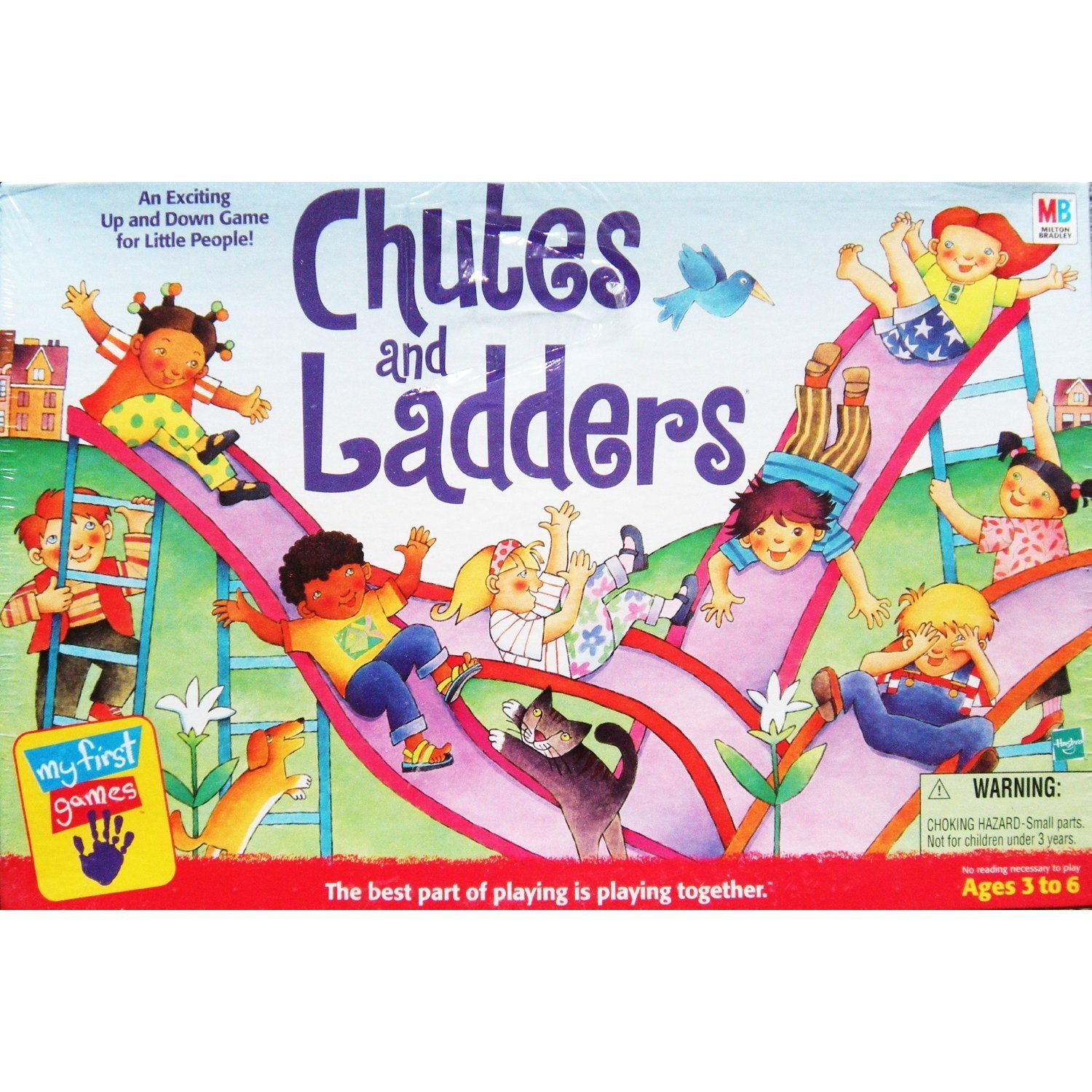 New - Vintage 1999 Milton Bradley My First Games Chutes and Ladders Board Game