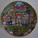 Franklin Mint Porcelain Father's Day Purrfect Pops Cat Plate by Bill Bell