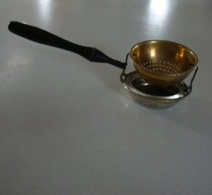 Antique P Amp B Paye Amp Baker Brass Copper Tea Strainer With