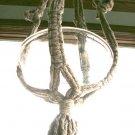 "Vintage Heather Grey Jute Macrame Plant Hanger 48"""