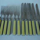Vintage 1950s Robinson Knife Co. Stainless Folk & Butter Knife Set of 6