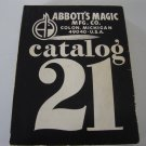 Vintage 1976 Abbott's Magic Mfg Co Catalog 21 ISBN:0394727665