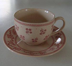 Vintage Johnson Brothers Laura Ashley Petite Fleur Pink Cup & Saucer