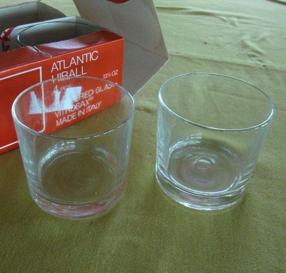Vintage Bormioli Atlantic Hiball Glasses - Set of 4 MIB