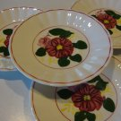 Vintage Blue Ridge Southern Potteries Meadow Beauty / Wild Rose Saucers (no cups) - Set of 4