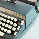 Vintage 1968 SCM Super Sterling Portable Typewriter & Case