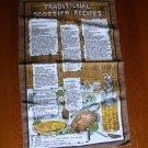 Vintage Causeway Traditional Scottish Recipes Tea Towel