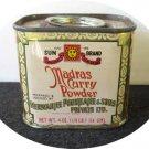 Vintage 1980s Sun Brand Madras Curry Powder Spice Tin
