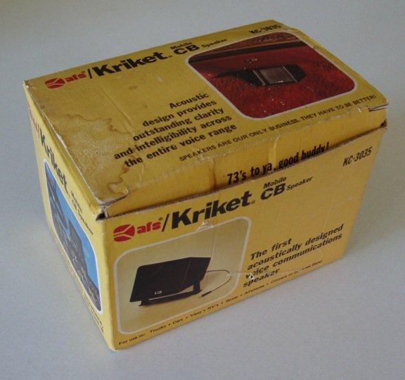 Vintage 1976 AFS Kriket Mobile CB Speaker KC-3035 in orig box