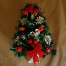 Vintage Plastic Christmas Tree Wall Hanging