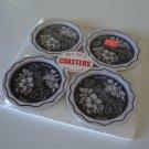 Vintage Hawaiian Souvenir Metal Coasters - Set of 4MIP