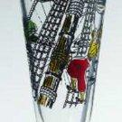 Vintage Libbey Treasure Island Pirate Pilsner Beer Glass Set of 2