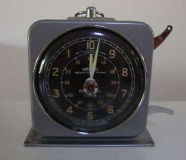 Vintage Smiths Industries English Clock Systems Interval Timer Great Britain