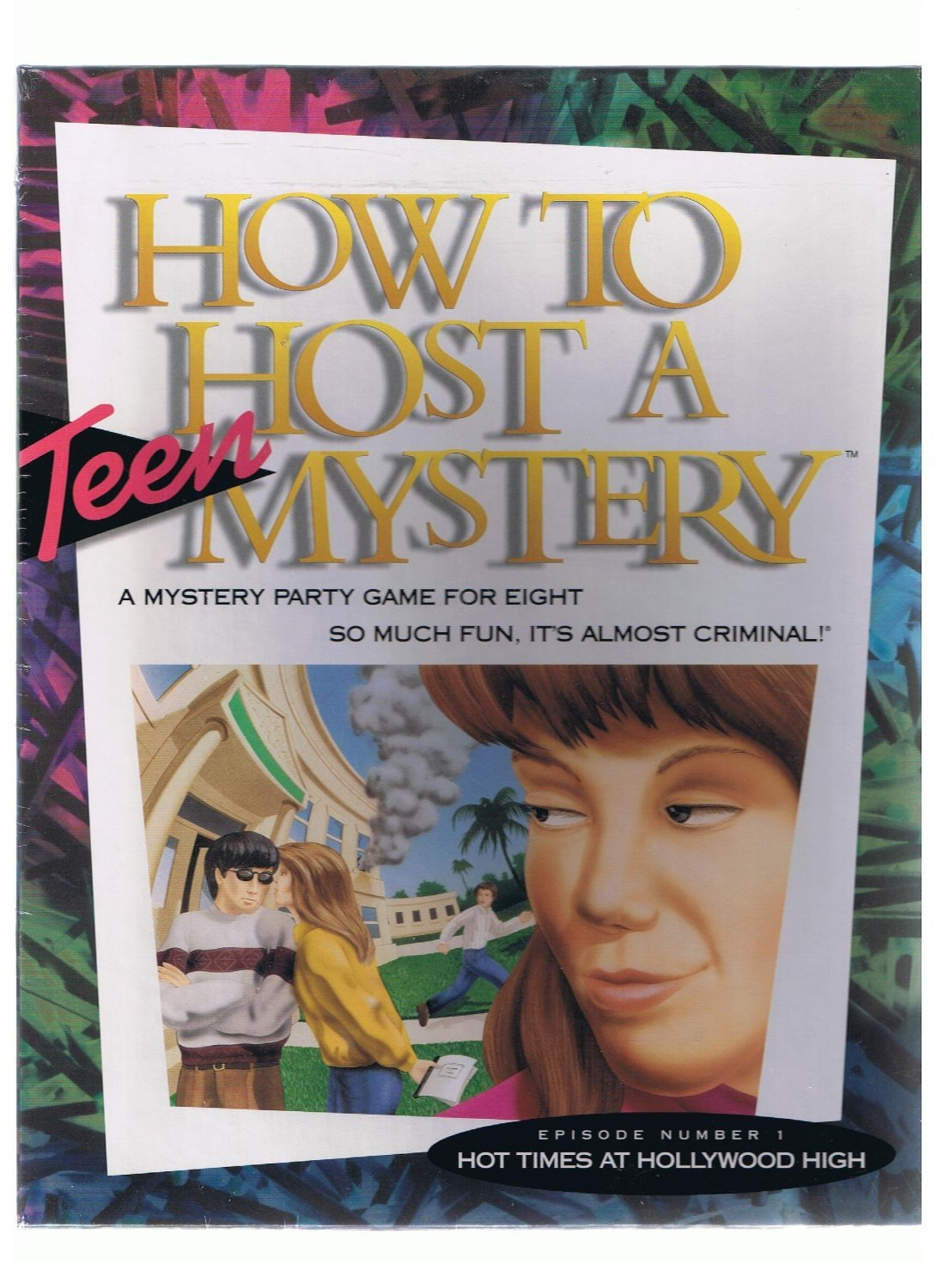 """MIB Vintage How to Host a Teen Mystery """"Hot Times at Hollywood High - Sealed in Box"""