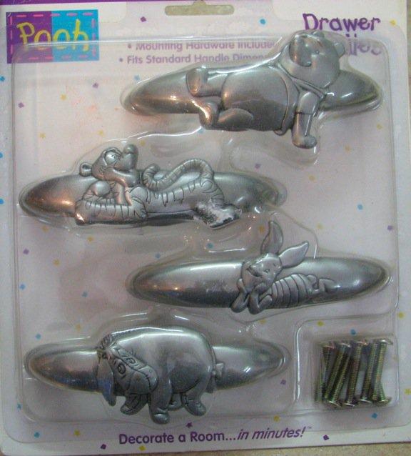 Pooh Drawer Handle Pulls - Set of 4 Priss Print #46553
