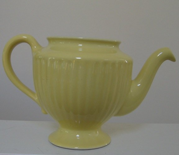 Vintage Hall Yellow Los Angeles Teapot (no Lid)
