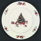 Vintage China Pearl Magical Christmas Salad Plate Set of 2