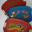 Vintage Japan TILSO 1960s Serving / Bar Tray Holiday Trio