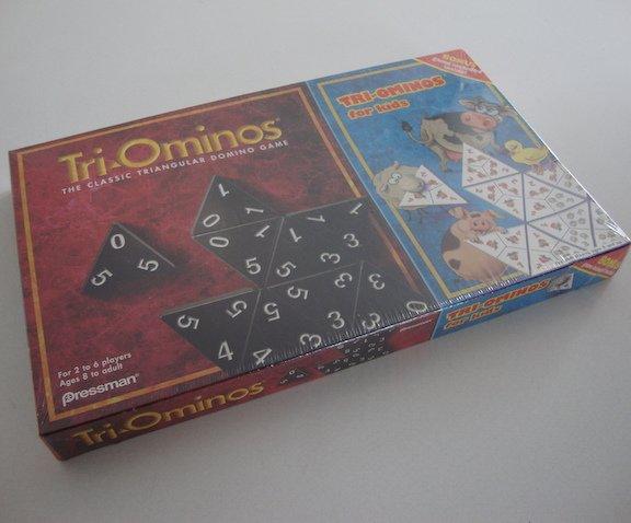 NIB 1997 Pressman Tri-Ominos Classic & Tri-Ominos for Kids Combo