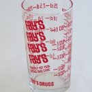 Vintage Fay's Drugs Promo Advertiser Clear Glass 8 Oz Measuring Glass