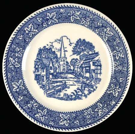 Vintage Homer Laughlin SHAKESPEARE COUNTRY Dessert Plate Set of 2