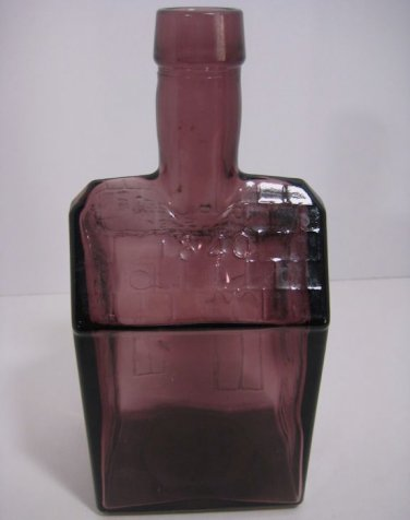 Vintage E C Booz Quot S Old Cabin Whiskey Amethyst Glass Bottle