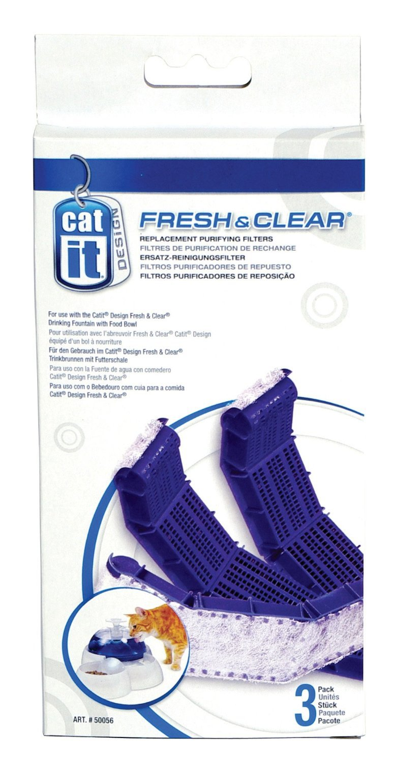 Set of 3 Boxes - Catit Drinking Fountain Replacement Carbon Filter Cartridge 3-Pack