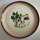 "Vintage Brock of California Harvest 10"" Plate"