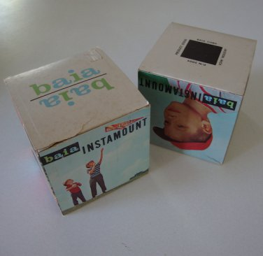 Vintage Baia Plastic Photo Cube Desk Frame NOS Set of 2