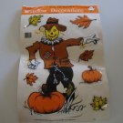 Vintage 1989 Classic Clings Non Adhesive Autumn Window Decorations - used