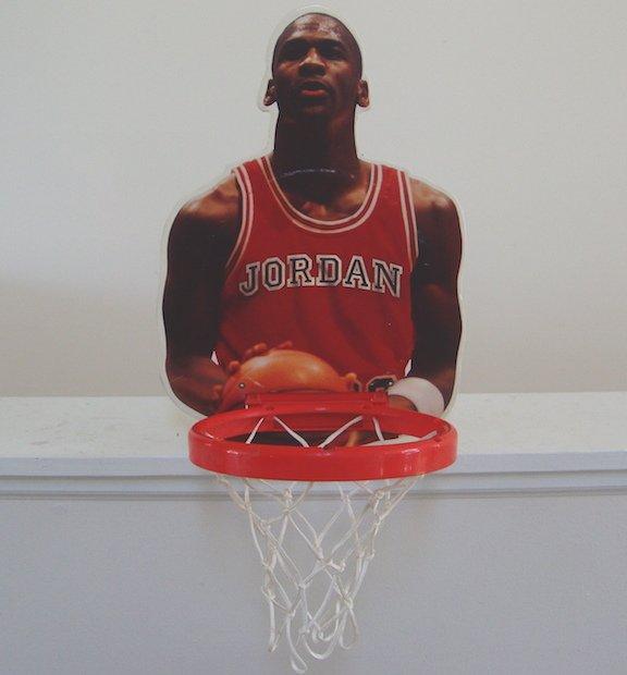 Vintage 90s Michael Jordan Wall Ball Hoop Net Chicago Bulls