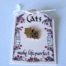 "1998 Monarch Lynn Norton Parker ""Cats make life purrfect"" Pin"