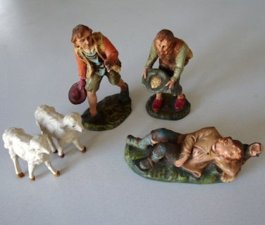 Vintage Nativity Creche Shepherd Set - Italy