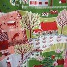 """Vintage Farm Land Barkcloth Fabric - 6 2/3 yards (35"""" width)"""